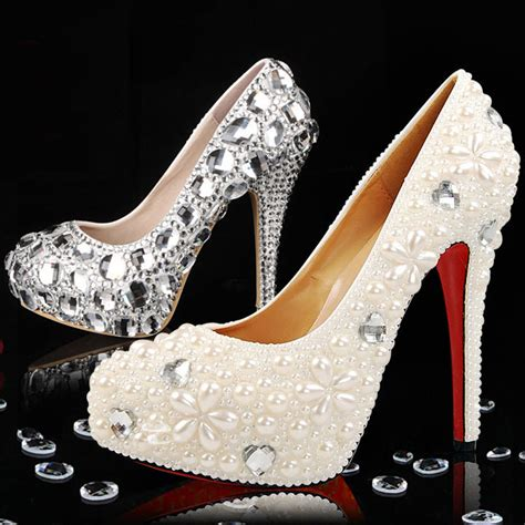 diy bridal shoes bling rhinestones pearls materials for diy wedding