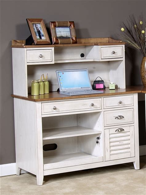 ocean isle bisque and natural pine file cabinet ocean isle computer credenza hutch in bisque with