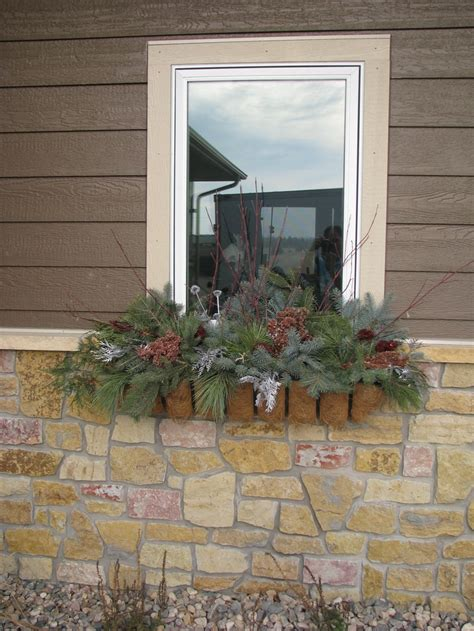 window boxes cheap to fill window boxes with real pine for winter easy