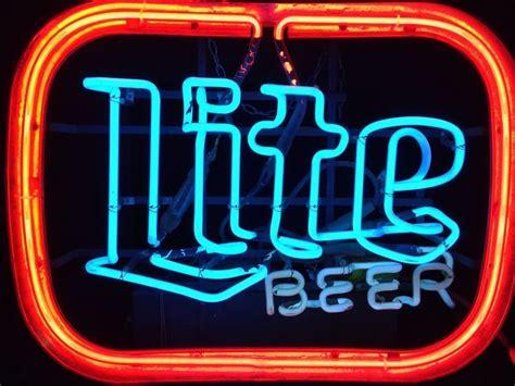 miller lite light up sign vintage miller lite neon sign cave bar light not