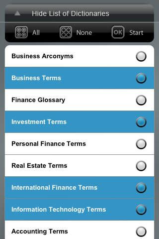 Mba Finance Dictionary by Business Reference Library All Dictionary Terms