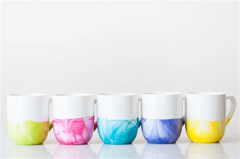 design coffee mug with nail polish diy marble dipped mugs the sweetest occasion