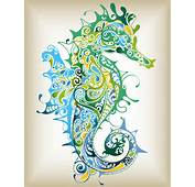 Seahorse Pattern Vector  Free Graphic Download