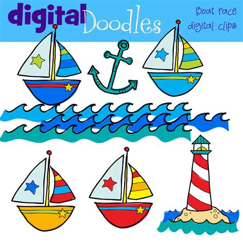 clipart of boat race popular items for boat race on etsy cliparts co