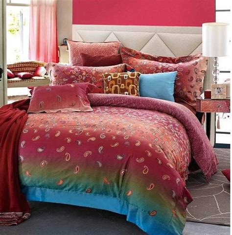 red paisley bedding egyptian cotton red paisley luxury bedding comforter set