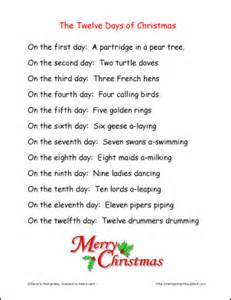 The twelve days of ch