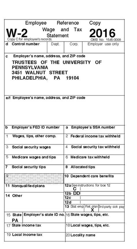 Tax Forms For 2016 University Of Pennsylvania Almanac 2016 W2 Form Template