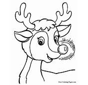 Printable Christmas Coloring Book Pages  Rudolphs Glow