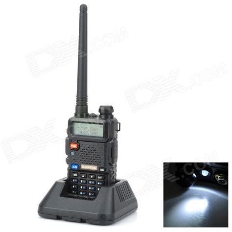 buy cheapest baofeng uv5r 1 5 quot lcd 5w 136 174mhz 400 520mhz dual band walkie talkie w 1 led