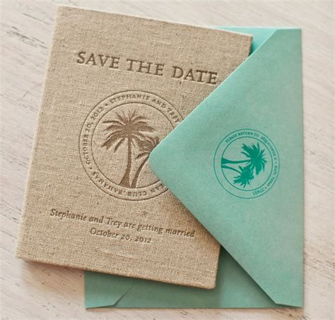 Stephanie   Trey's Tropical Passport Save the Dates