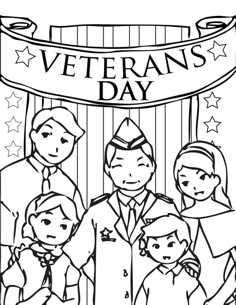coloring page of veterans day veteran s day coloring page handipoints