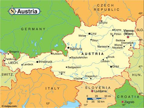 austria on the world map austria map map all maps of the world