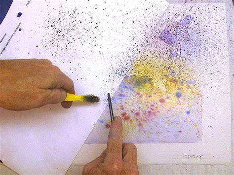 Watercolor Splash Tutorial | splatter and spray watercolor techniques artsy