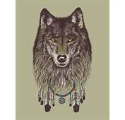 Beautiful Drawing Dream Dreamcatcher Feather Tattoo Wolf