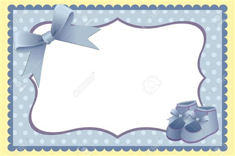 Baby Boy Card Template by Free Printable Baby Boy Borders 9539725 Template For