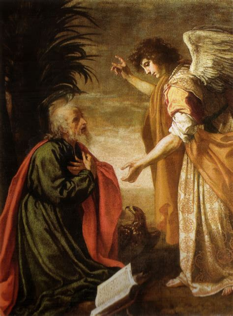 apostle speaks from heaven a revelation books the apostle on patmos 17th century jacopo vignali