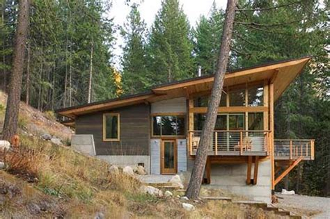 small modern cabin plans wedge shape treehouse tree house designs pinterest