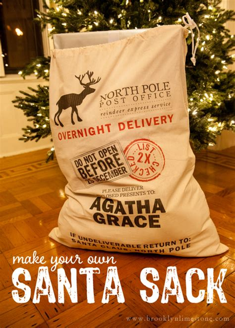 diy santa sack and free printable brooklyn limestone