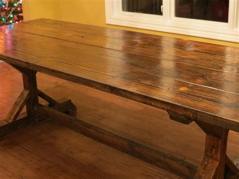 Build A Rustic Dining Table White Rustic Farmhouse Table From Let S Just Build A House Diy Projects