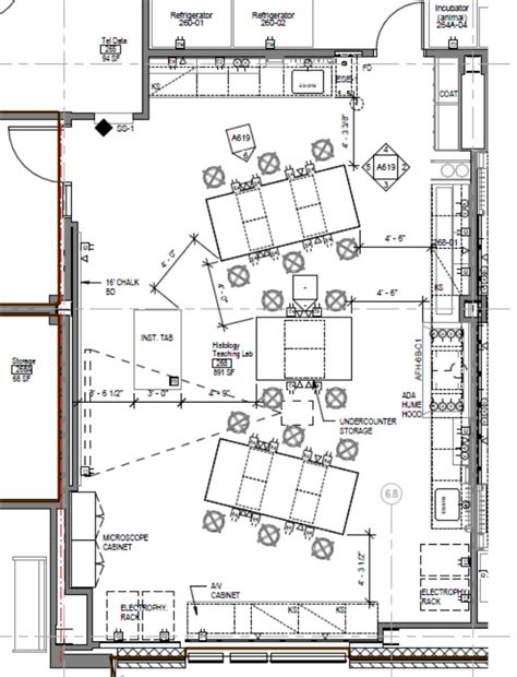 laboratory floor plans histology neuroscience lab