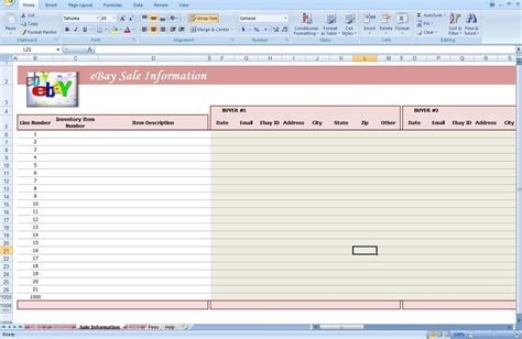 free ebay selling template free spreadsheet for ebay sales ebay spreadsheet template
