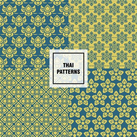 thai pattern ai abstract shapes thai patterns vector free download