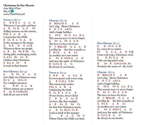 christmas songs jose mari chan lyrics in our hearts jose mari chan letter notation with lyrics for flute violin