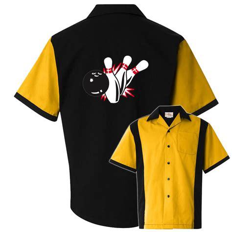 design a bowling shirt bowlingshirt com pin splash b stock print on the retro two