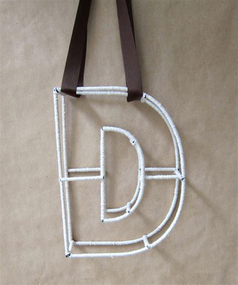 Letter String - string monogram letter tutorial polka dot