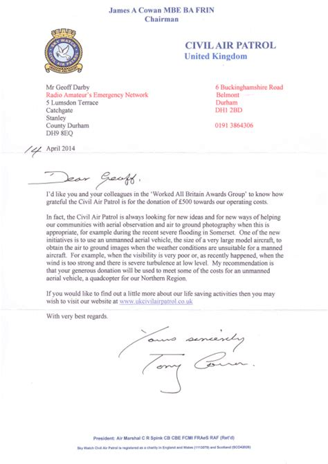 Jamboree Fundraising Letter Worked All Britain Web Site Index