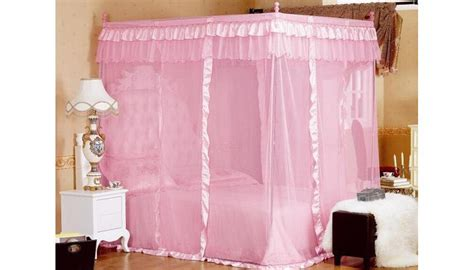 pink canopy bed curtains amazoncom pink princess 4 corners post bed curtain canopy