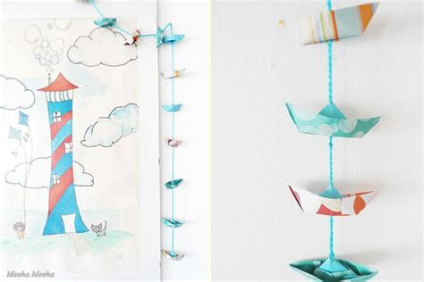 Origami Garland - meeha meeha origami boat garland