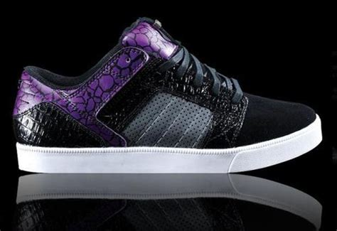 Sepatu Vans Patta supra skylow black purple theshoegame sneakers information