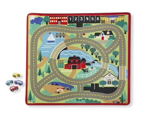 cars play rug road rug car play carpet pretend playset map big area new ebay