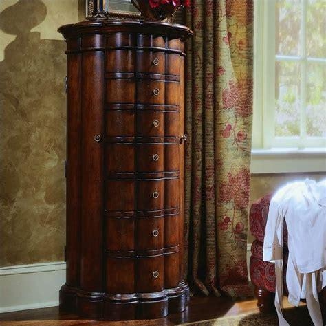 hooker furniture  seas shaped jewelry chest  cherry finish