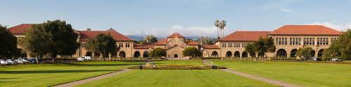 Stan Ford View Of The Quadrangle Of Stanford With
