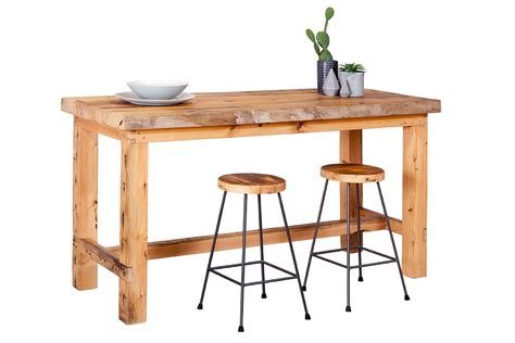 Timber Bar Table Plaistow Recycled Solid Baltic Timber Bar Table Bespoke Furniture Gallery Perth