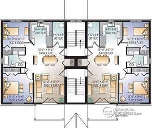 8 plex apartment plans multi family plan w3036 detail from drummondhouseplans com
