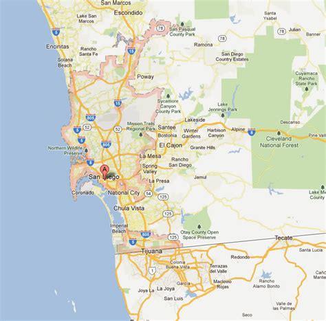 Garden Grove Ca City Boundary San Diego California Map