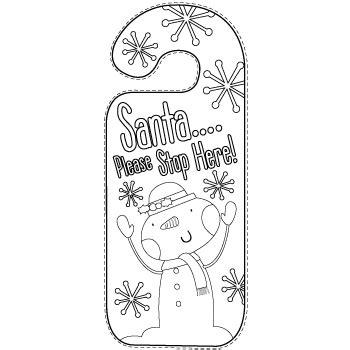 Printable Christmas Door Hangers | christmas door hangers free printables party delights