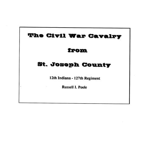 St County Civil Search The Genealogy Center Presents Our Heritage Civil War Cavalry From St
