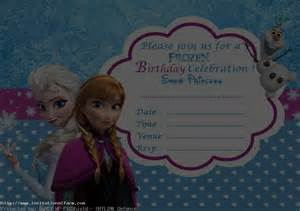 frozen birthday invitation template free frozen birthday invitation template