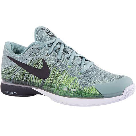nike mens tennis shoes nike zoom vapor flyknit s tennis shoe green black
