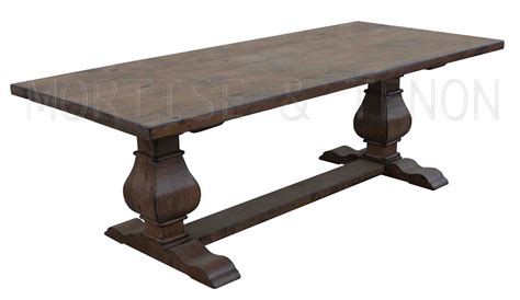 large rustic reclaimed wood double trestle pedestal dining cool reclaimed wood trestle dining table all about house