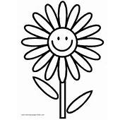 Flowers Coloring Pages Color Plate Sheetprintable
