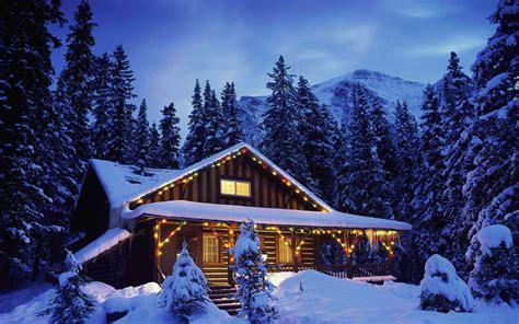 winter log cabin desktop wallpaper christmas cabin wallpaper 719562