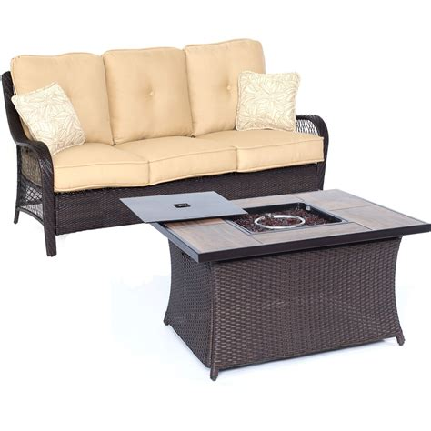 sofa fire only 1699 00 orleans2pc fp seating set sofa fire pit