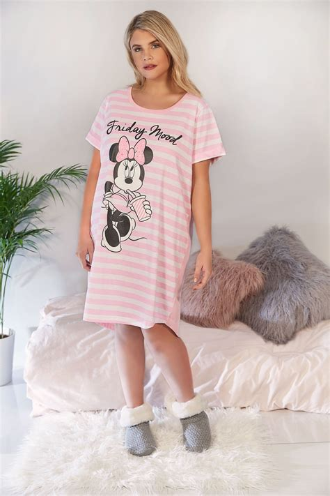 Friday Mood White Sweater Diskon pink white striped disney minnie mouse friday mood