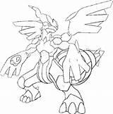 Coloriages Pokemon - Zekrom - Dessins Pokemon