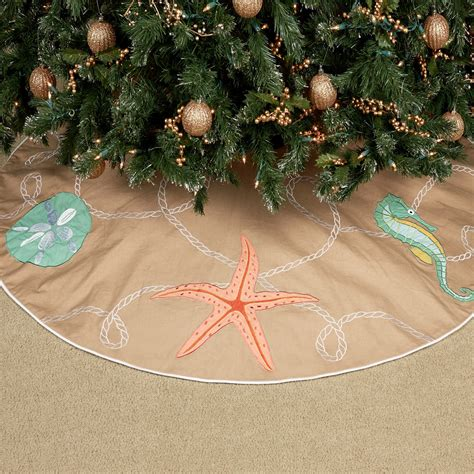 beach christmas tree skirt